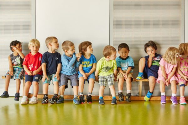 Early Years Kids in the gym