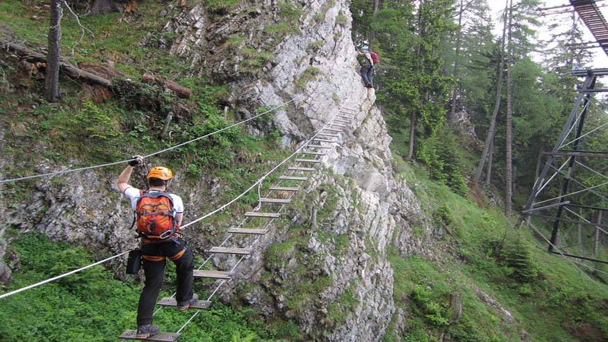 Klettersteig Grade : Grade to outdoor program klettersteig in hirschbachtal